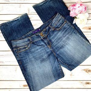 Vigoss Medium Wash Distressed Bootcut Jeans Sz. 40